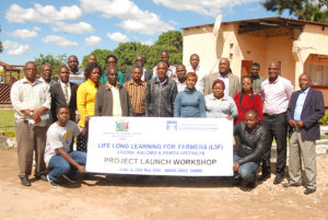 Extension Officers posing in Zambia