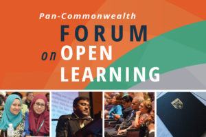 image tile showing scenes of past Pan-Commonwealth forums on open learning