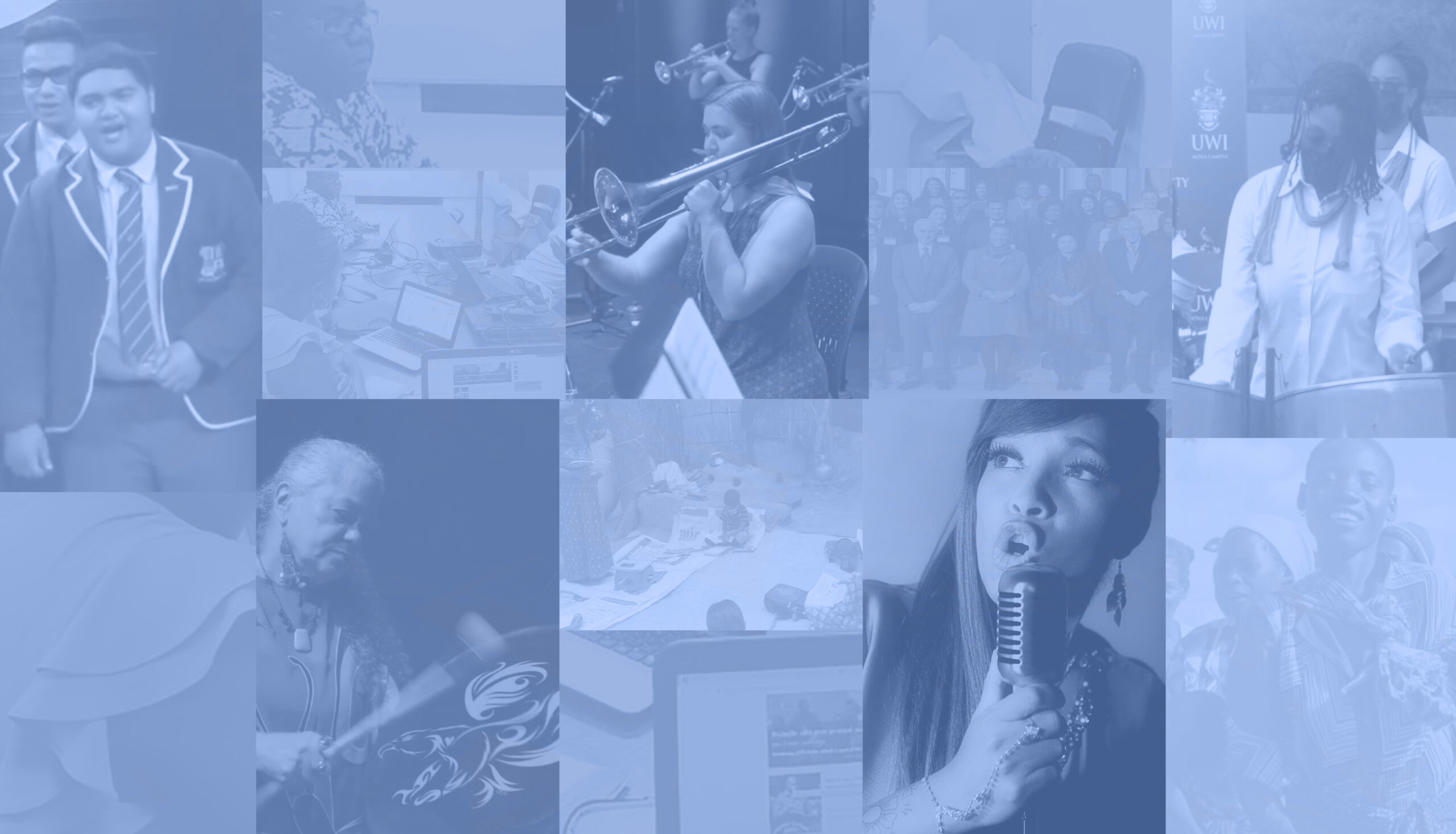 Collage of musical images